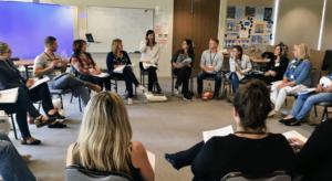 Intuitive Reiki Lisa Brandis teaching Reiki Students (1)
