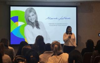 Lisa Brandis speaking at Fempire event