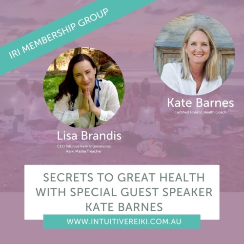 Join Lisa Brandis and Health Coach Kate Barnes sharing her top tips for great healthLIVE in our online classroom join our Special Guest Presenter Kate Barnes, Holistic Health Coach as she shares her top tips to maintain great health and wellbeing especially for our healers.